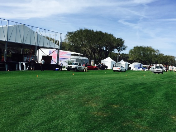 Setup day on the concours lawn